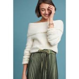 NWT Anthropologie Natalia Off Shoulder Sweater